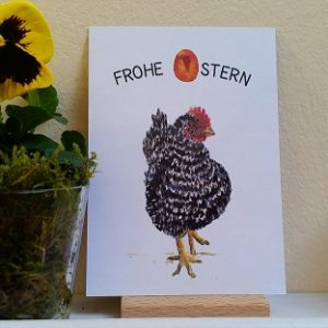 Osterkarte mit Huhn