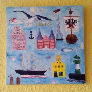 Wandbild Lübeck-Print
